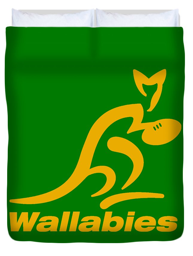 Wallabies Rugby Club Duvet Cover For Sale By Pendi Kere