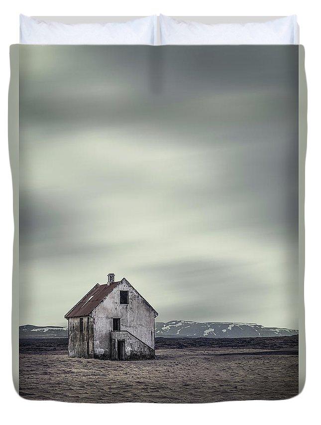 Kremsdorf Duvet Cover featuring the photograph Walls Of Desolation by Evelina Kremsdorf
