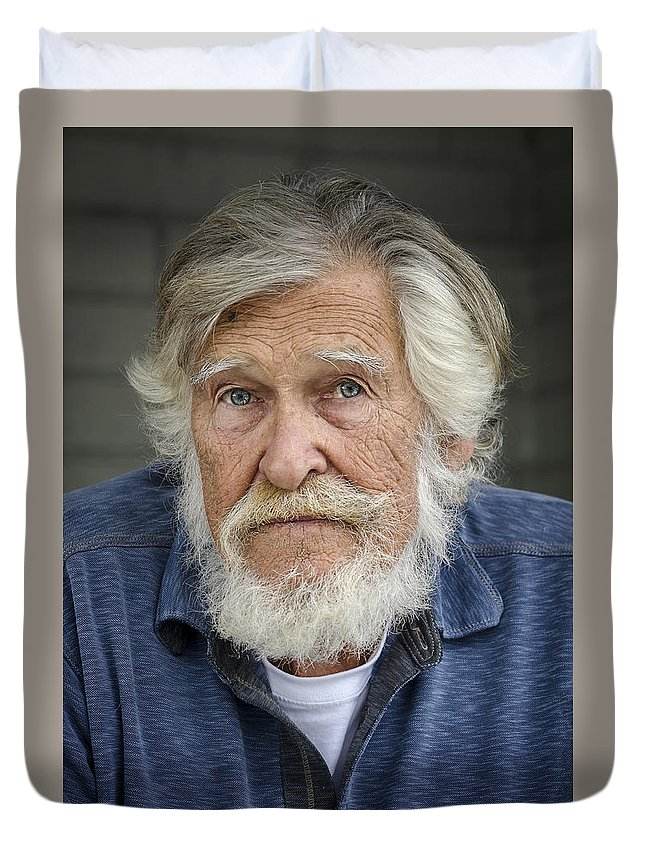 Portrait Duvet Cover featuring the photograph Wally O. by Rick Mosher