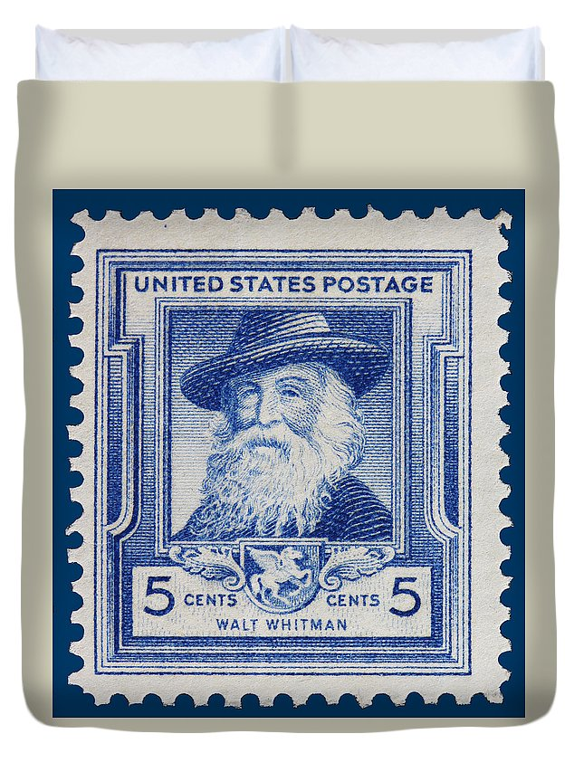 Walt Whitman Postage Stamp Duvet Cover featuring the photograph Walt Whitman Postage Stamp by James Hill