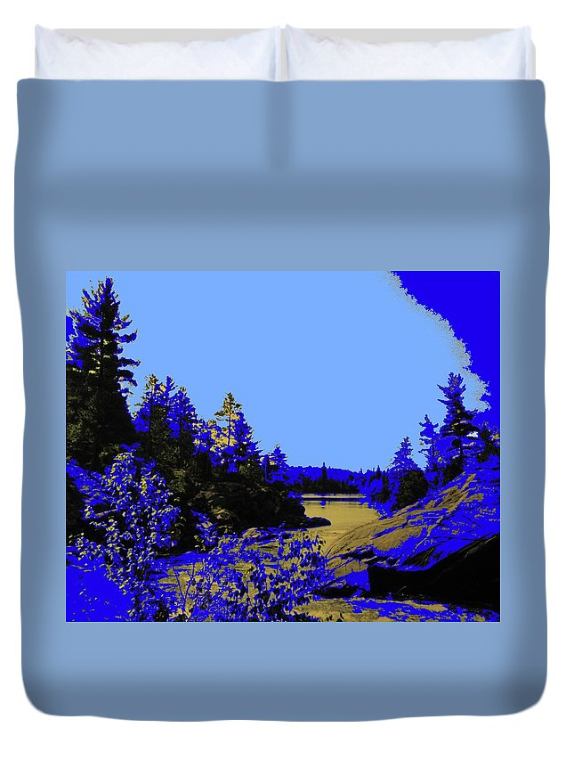 Northern Duvet Cover featuring the photograph Wanapitae River Morning by Ian MacDonald