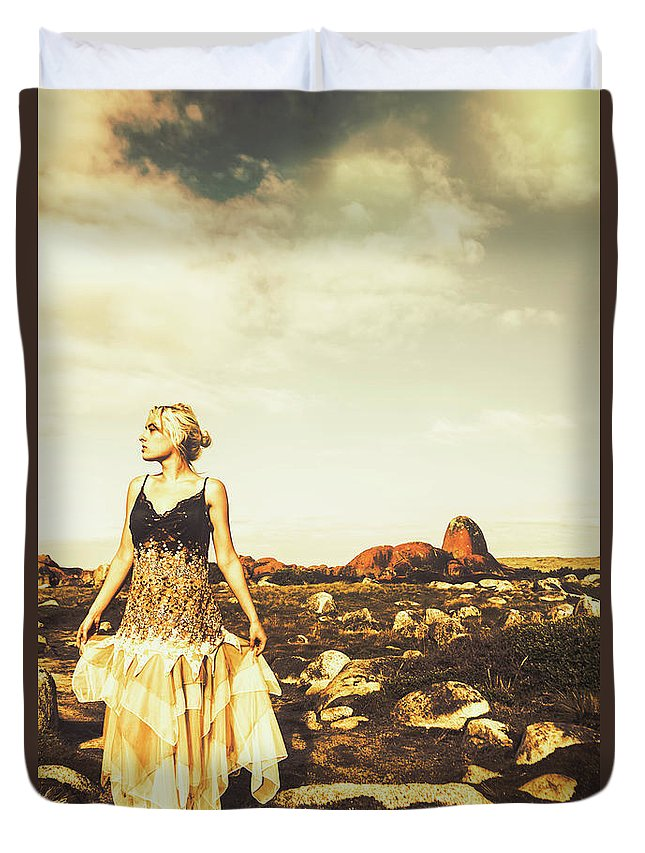 Retro Duvet Cover featuring the photograph Wanderlust Tasmania by Jorgo Photography - Wall Art Gallery