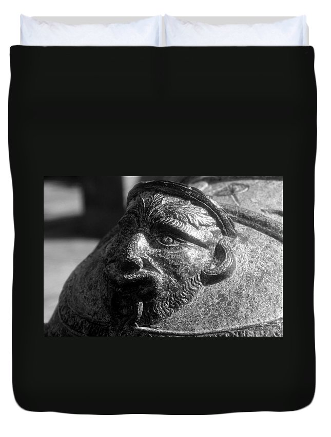 Cannon Duvet Cover featuring the photograph War Face by David Lee Thompson