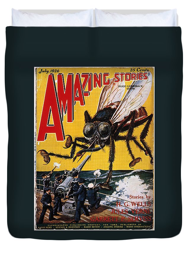 1927 Duvet Cover featuring the photograph War Of The Worlds, 1927 by Granger