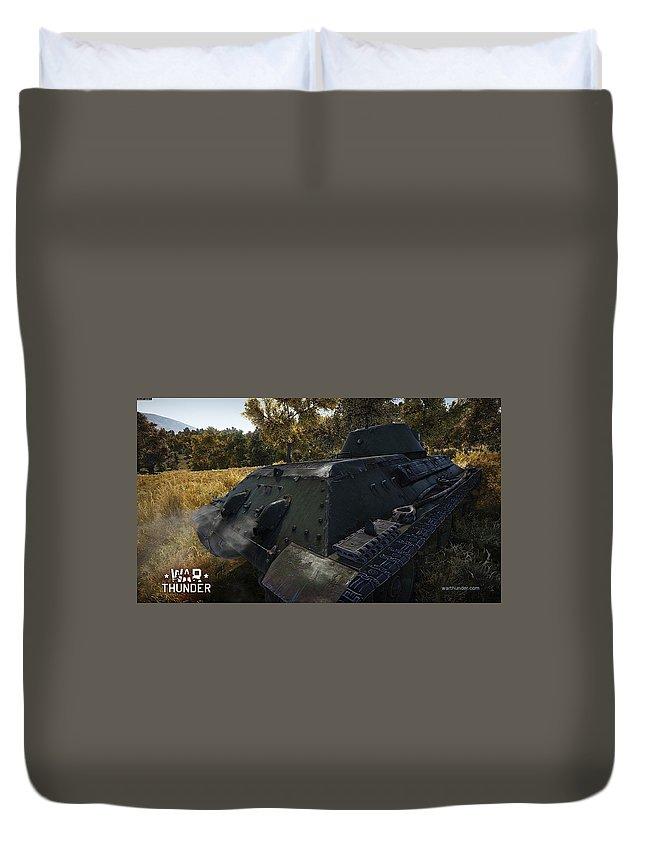 War Thunder Duvet Cover featuring the digital art War Thunder by Bert Mailer