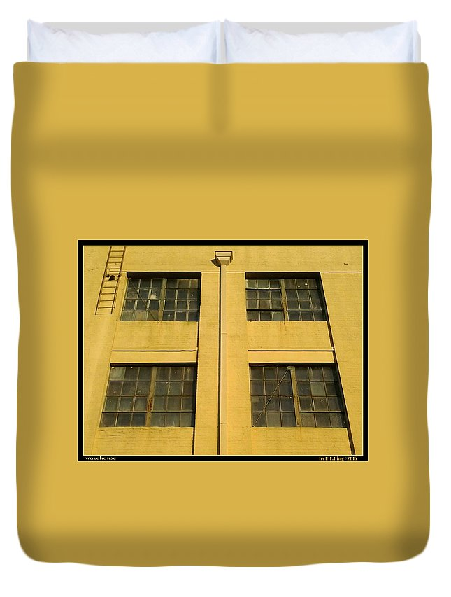 Photography Duvet Cover featuring the photograph Warehouse by Randolph Ping