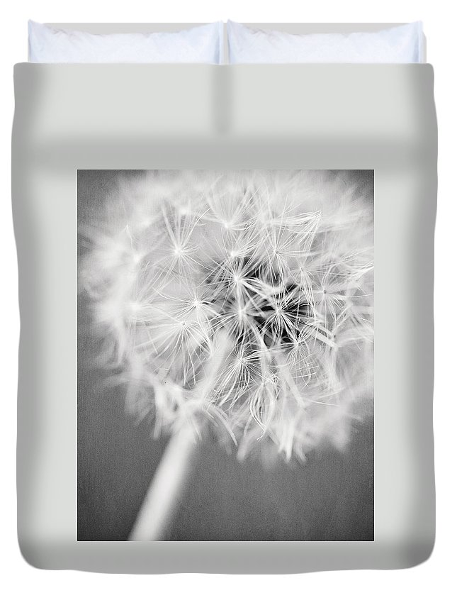 Black And White Duvet Cover featuring the photograph Warm Wishes II by Lisa Russo