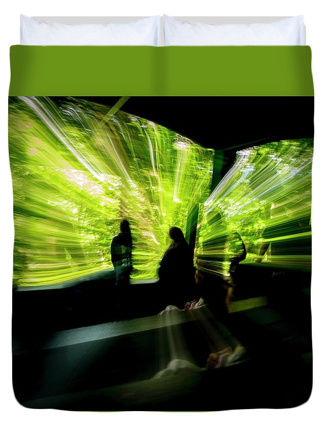 Abstract Duvet Cover featuring the photograph Warp Speed 2 by Frederic A Reinecke