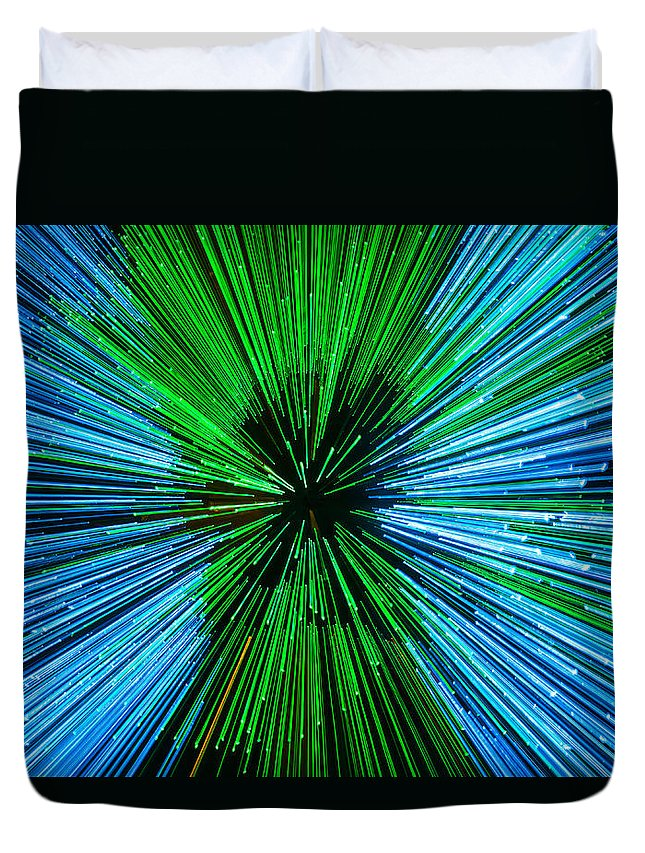 Star Trek Duvet Cover featuring the photograph Warp Speed Mr Sulu by Tony Beck