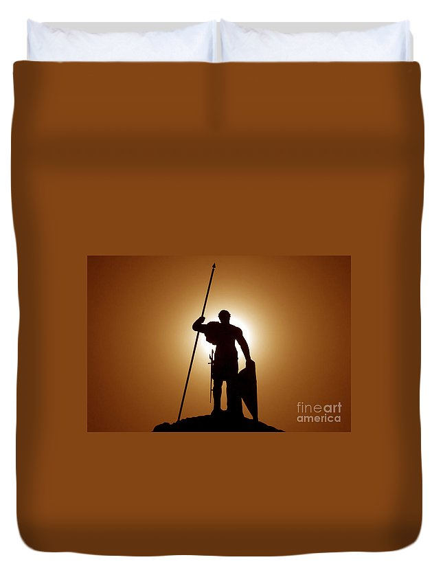 Warrior Duvet Cover featuring the photograph Warrior by David Lee Thompson