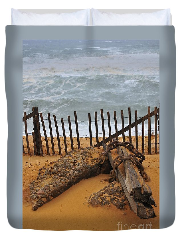 Ashore Duvet Cover featuring the photograph Washed Ashore by Catherine Reusch Daley