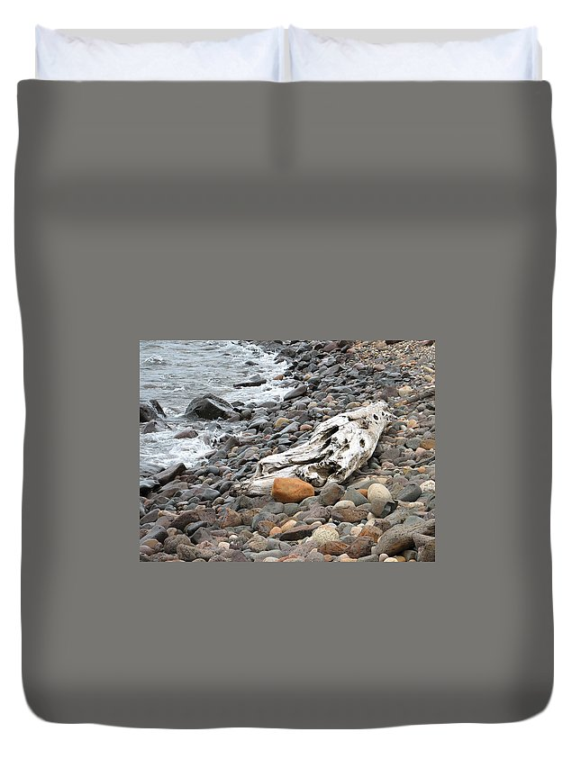 Driftwood Duvet Cover featuring the photograph Washed Up by Kelly Mezzapelle