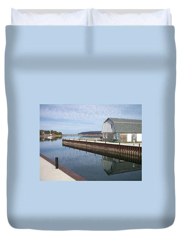 Washington Island Duvet Cover featuring the photograph Washington Island Harbor 2 by Anita Burgermeister