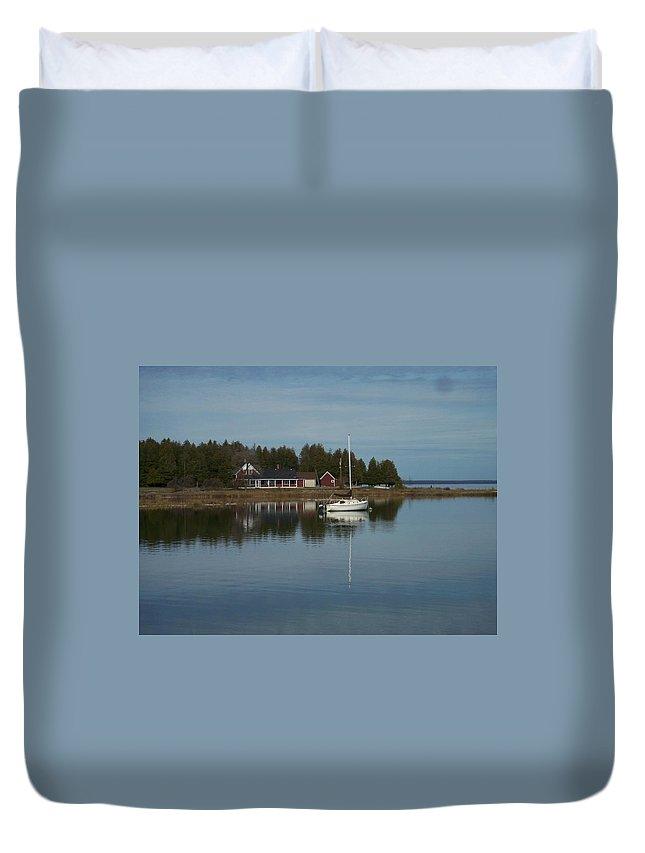 Washington Island Duvet Cover featuring the photograph Washington Island Harbor 3 by Anita Burgermeister