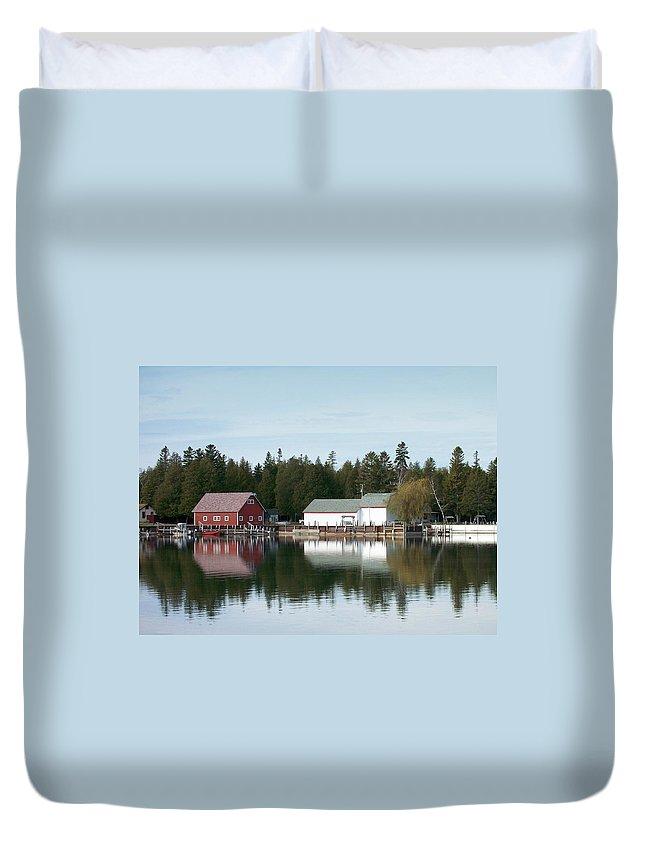 Washington Island Duvet Cover featuring the photograph Washington Island Harbor 7 by Anita Burgermeister