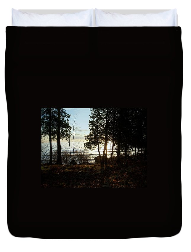 Washington Island Duvet Cover featuring the photograph Washington Island Morning 3 by Anita Burgermeister