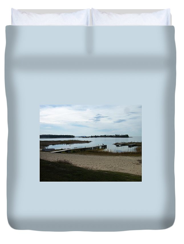 Washington Island Duvet Cover featuring the photograph Washington Island Shore 2 by Anita Burgermeister