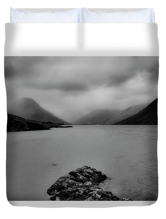 Wastwater Duvet Cover featuring the photograph Wastwater In Bad Weather by Graham Moore