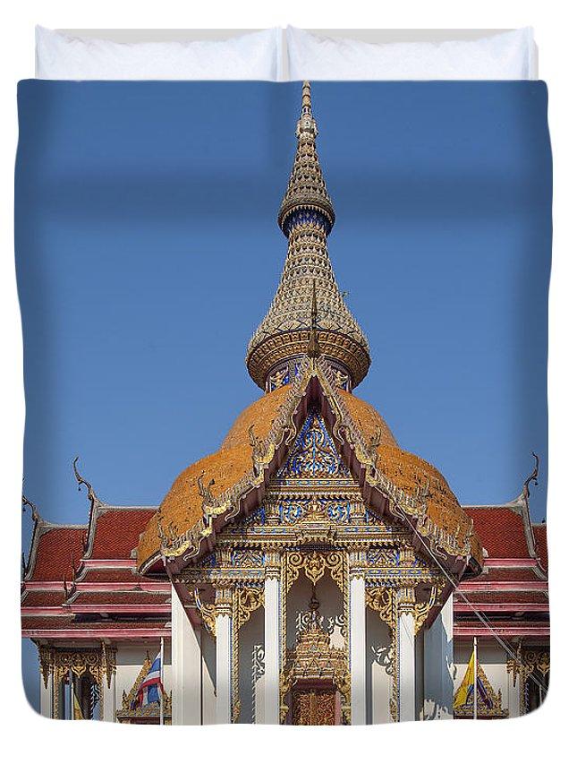 Temple Duvet Cover featuring the photograph Wat Chaimongkron Phra Wihan Dthcb0088 by Gerry Gantt