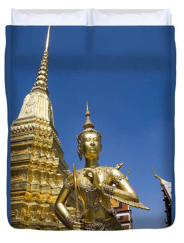 Afternoon Duvet Cover featuring the photograph Wat Phra Kaeo by Bill Brennan - Printscapes