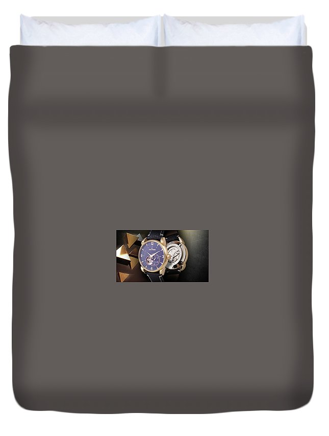 Watch Duvet Cover featuring the digital art Watch by Dorothy Binder