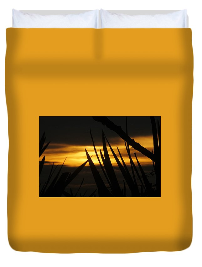 Sunset Duvet Cover featuring the photograph Watch More Sunsets by Pauline Darrow