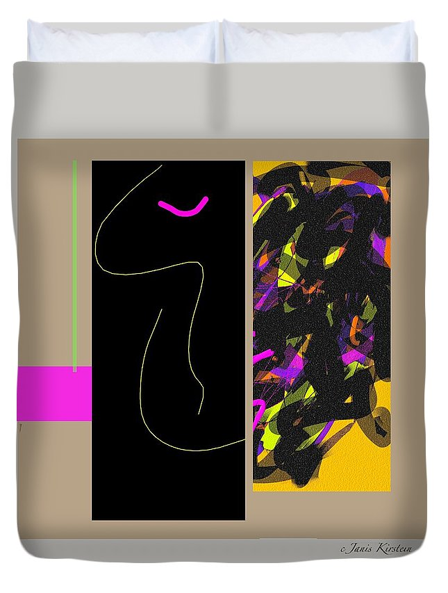 Digital Duvet Cover featuring the digital art Watch Watch Watch 1 by Janis Kirstein
