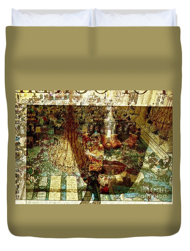 Single Exposure Duvet Cover featuring the photograph Watching by Michael Cinnamond