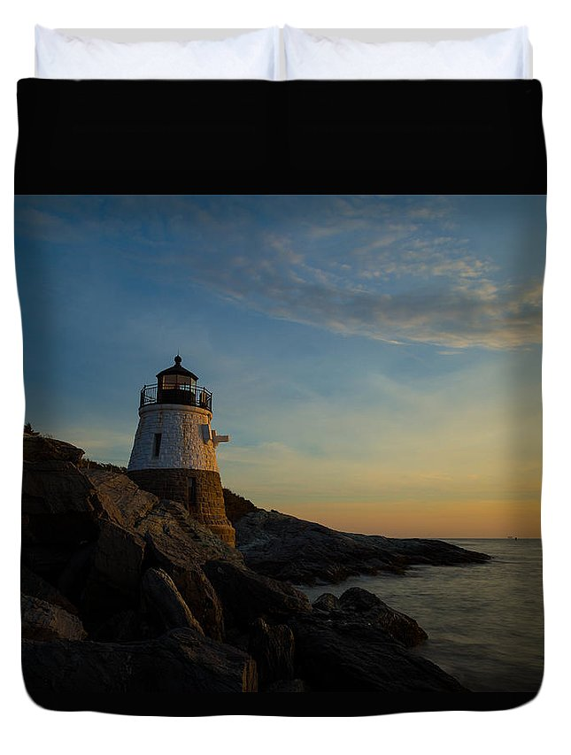 Light Duvet Cover featuring the photograph Watching The Sun by Brian Hale