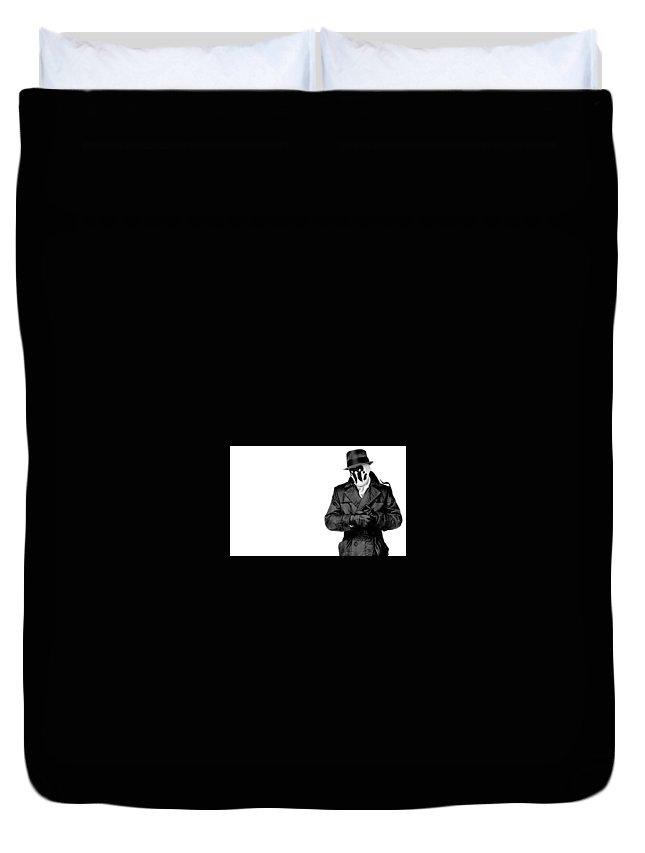Watchmen Duvet Cover featuring the digital art Watchmen by Dorothy Binder