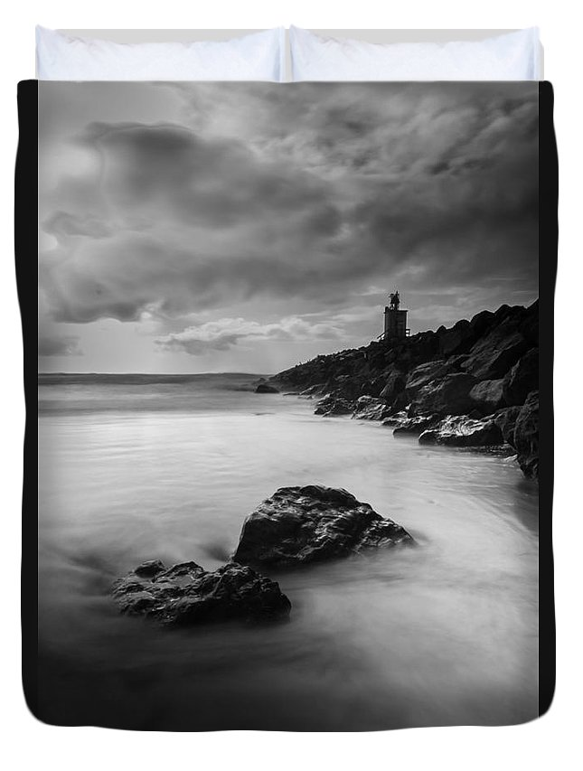 Long Exposure Duvet Cover featuring the photograph Watchtower by Tina Warlick