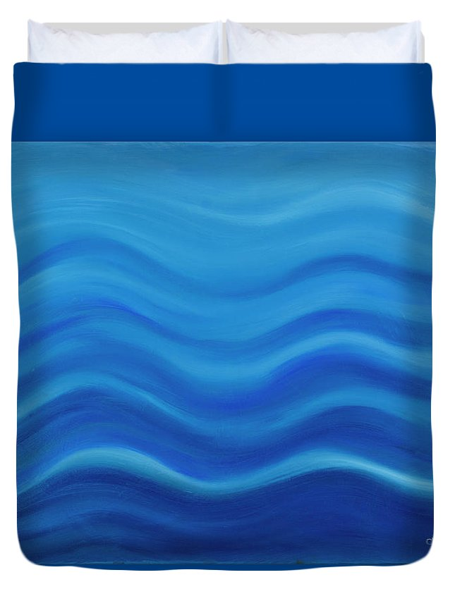 Water Duvet Cover featuring the painting Water by Adamantini Feng shui