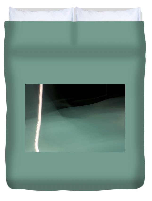 Aqua Duvet Cover featuring the photograph Water And Light I by Glennis Siverson