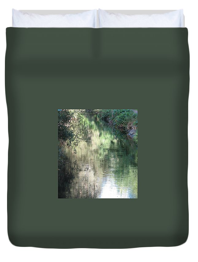 Reflection Duvet Cover featuring the photograph Water Color by Kelly Mezzapelle