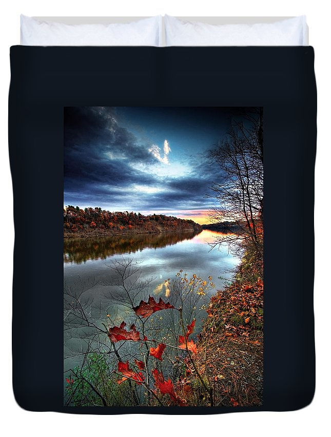 Mohawk River Duvet Cover featuring the photograph Water Colors by Neil Shapiro