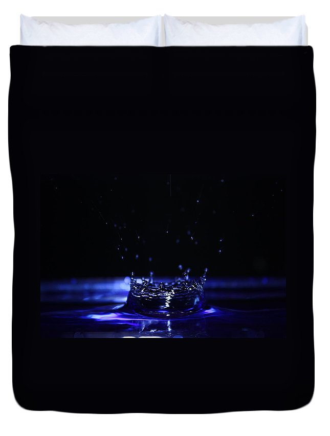 Photography Duvet Cover featuring the photograph Water Drop by Alexander Butler