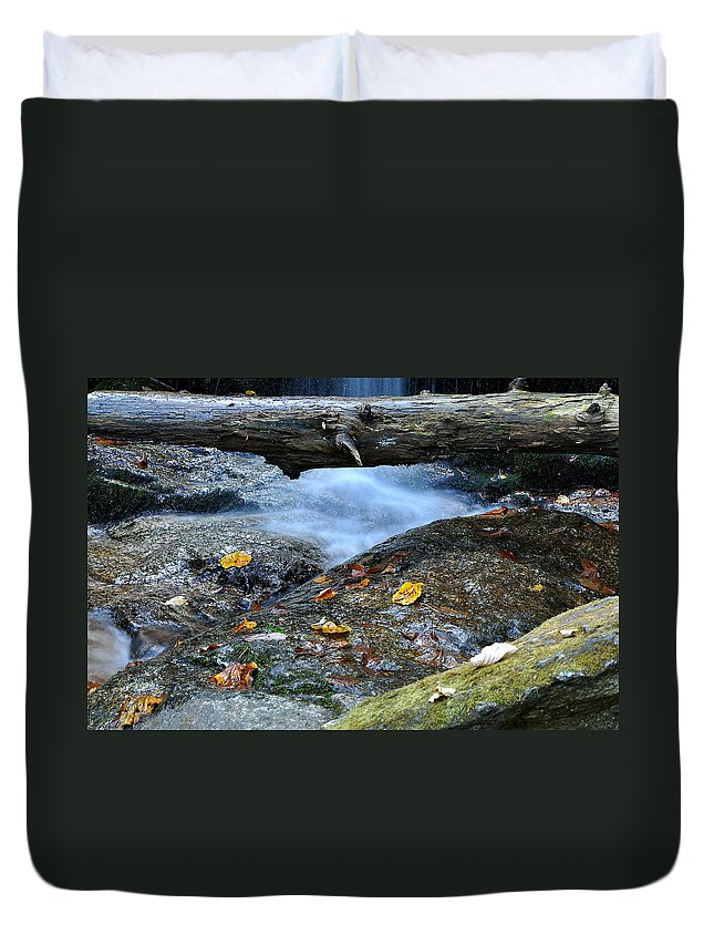 Water Falls Duvet Cover featuring the photograph Water Falls by Todd Hostetter