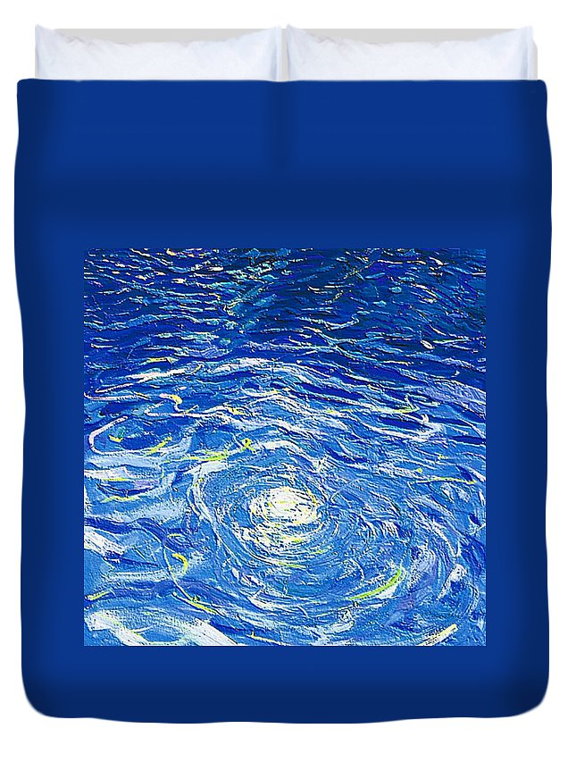 Pool Duvet Cover featuring the mixed media Water In The Pool by Dragica Micki Fortuna