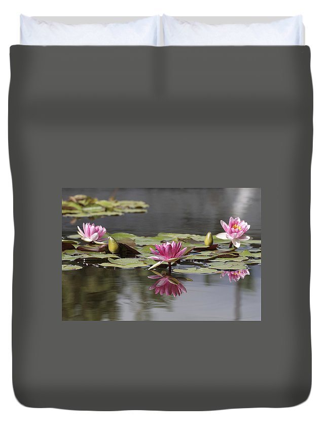 Lily Duvet Cover featuring the photograph Water Lily 3 by Phil Crean