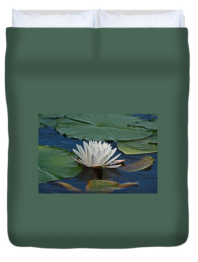 Duvet Cover featuring the photograph Water Lily by David Campbell