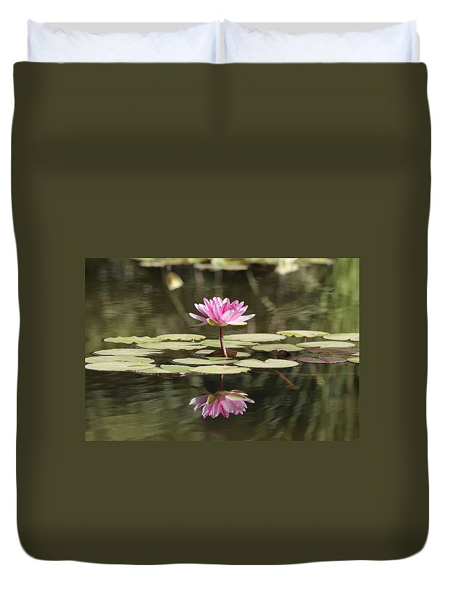 Lily Duvet Cover featuring the photograph Water Lily by Phil Crean