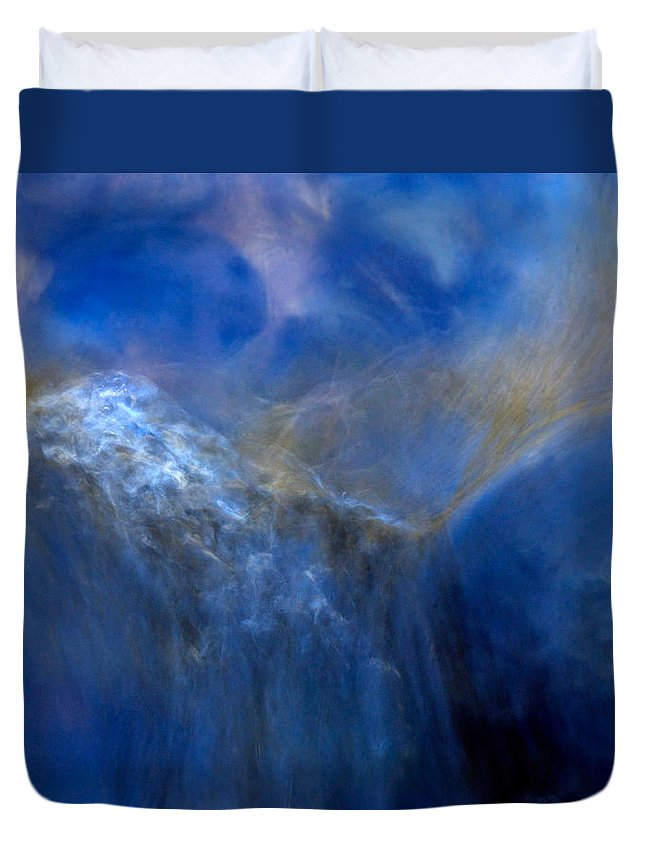 Abstract Water Duvet Cover featuring the photograph Water Reflections 0246v2 by Dick Hopkins