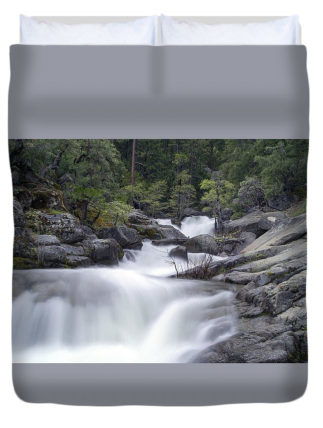 Water Duvet Cover featuring the photograph Water Running From The Woods by Jaime Pomares