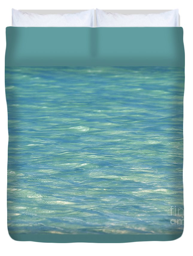Afternoon Duvet Cover featuring the photograph Water Texture by Mary Van de Ven - Printscapes