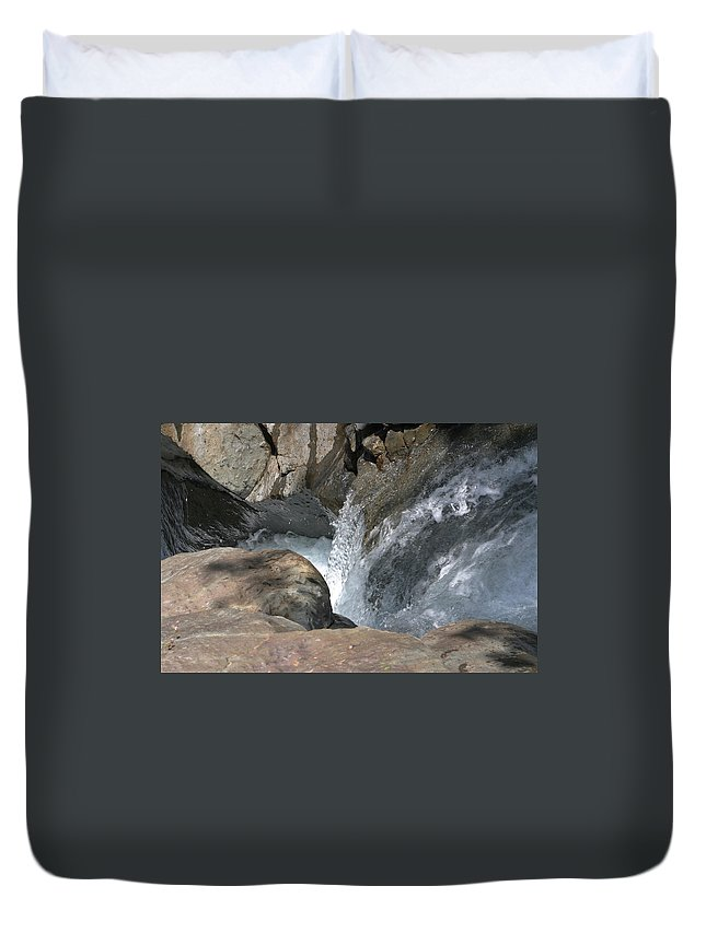 Core Duvet Cover featuring the photograph Water Womb by Dagmar Batyahav