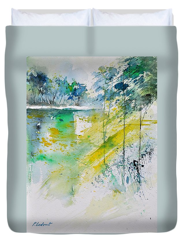 Landscape Duvet Cover featuring the painting Watercolor 010105 by Pol Ledent