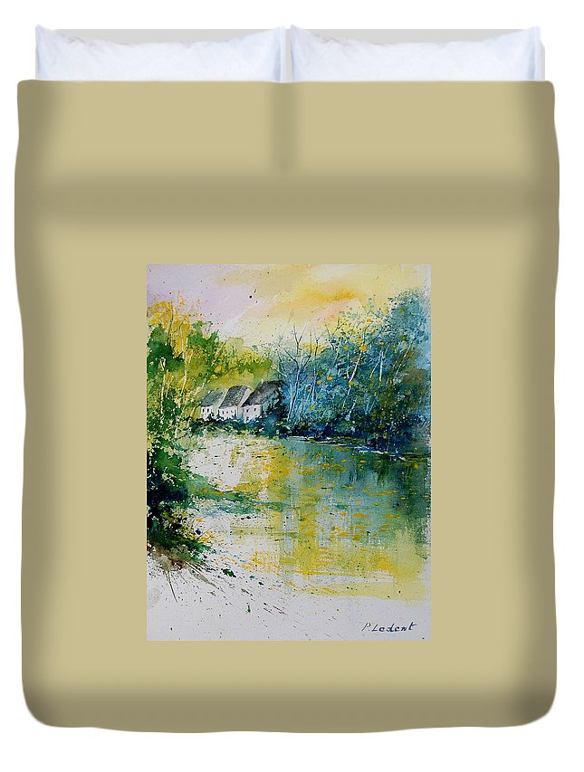 River Duvet Cover featuring the painting Watercolor 011108 by Pol Ledent