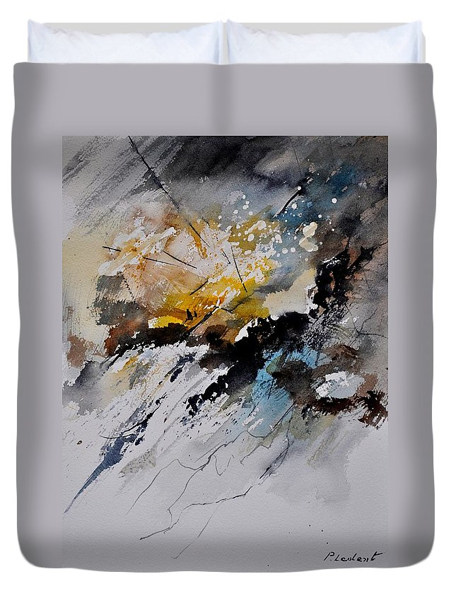 Abstract Duvet Cover featuring the painting Watercolor 011130 by Pol Ledent