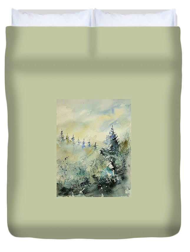 Winter Duvet Cover featuring the painting Watercolor 020307 by Pol Ledent