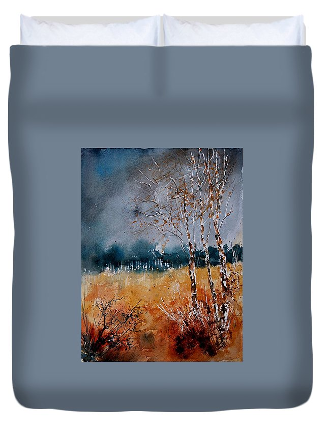 Tree Duvet Cover featuring the painting Watercolor 030308 by Pol Ledent